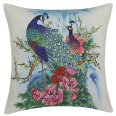 Vintage Home Decor Cotton Linen Pillow Case Sofa Waist Throw Cushion Cover (Multicolor) (Intl)