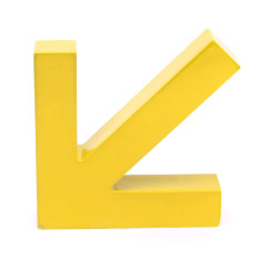 Wall Mounted Wooden Arrow Hook Coat Door Clothing Rack Hanger Home Bedroom Decor Yellow (Intl)