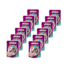 Whiskas Pouch Junior Kitten Tuna – 85gr (12 Pcs)