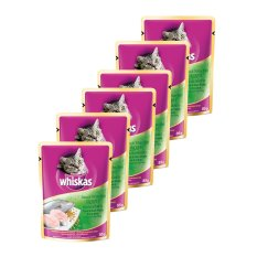 Whiskas Pouch Tuna White Fish –  85gr (6 Pcs)