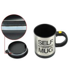 Whyus Electronic Self Mixing Stirring Coffee Milk Handle Cup Mug (Black)