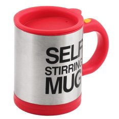 Whyus Electronic Self Mixing Stirring Coffee Milk Handle Cup Mug (Red)