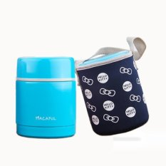 With Cloth Bag.Food Storage Cup.Lunch Box.Dinner Pail.Thermalinsulation Bento Box.Snack Picnic Box.Fresh Keeping Storagebox.Vegeable &Amp; Fruit Box.Home Living &Amp; Outdoor Lunchbox. (Blue) - Intl