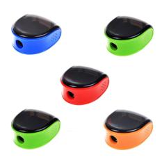 Womdee 5 Pcs Random Color Plastic Manual Pencil Sharpener