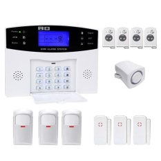 YA-500-GSM-2.12 In 1 Kit Wireless 433MHz GSM SMS Security Home House Burglar Alarm System With LCD Screen - Intl