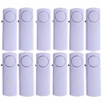 Yangma Paket 12 Set Alarm Pintu Anti Maling Door Entry Alarm - Putih (White)