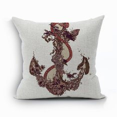 Yazilind Flower&Snake Pattern Decorative Pillowcase Room Sofa Home 45*45CM / 17.55*17.55 Inch