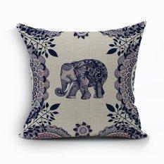Yazilind Sample Style Elephant Pattern Decorative Pillowcase Room Sofa Home 45*45CM / 17.55*17.55 Inch