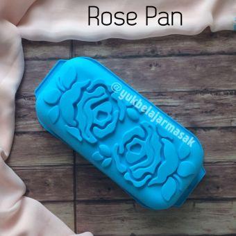 YBS Cetakan Puding / Kue Silikon ROSE PAN