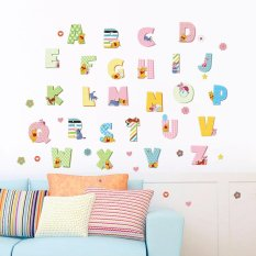 Yika 26 English Letters WINNIE THE POOH Wall Stickers DIY Kids Children Early Education - intl
