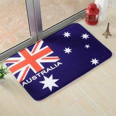 Yika 40*60cm Absorbent Soft Coral Velvet Non-slip Bathroom Floor Mat Rug National Flag Australia (Multicolor)