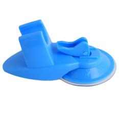 Yingwei Flexible Shower Holder Suction Cup Rack Blue (Intl)
