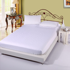 YiSoo 100% Cotton Bed Fitted Sheet 1 Piece Elastic Mattress Cover (White)