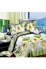 ZHENGQI 4 Pcs Sueding 3D Quilt Cover Pillowcases And Bed Linen Set (Search Dreams)
