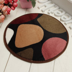 30cm Round Non Slip Foam Coral Velvet Bath Bedroom Shower Mat Floor Door Rug New Red Stone - Intl