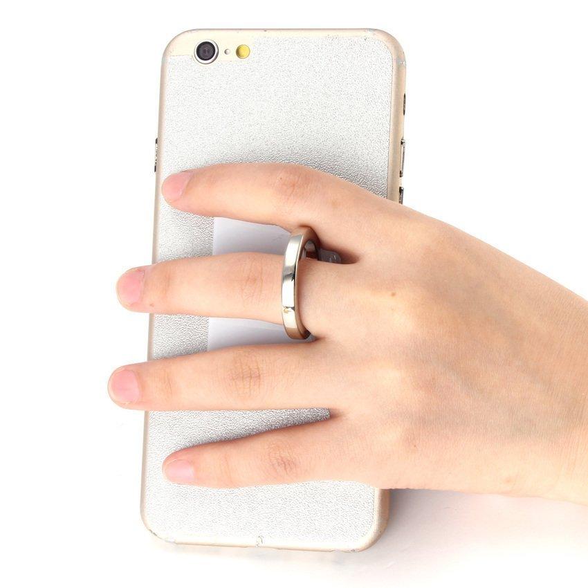 360 Degree Finger Grip Rotation 3D Ring Stand Mount Holder for Mobile Phone PDA White (Intl)