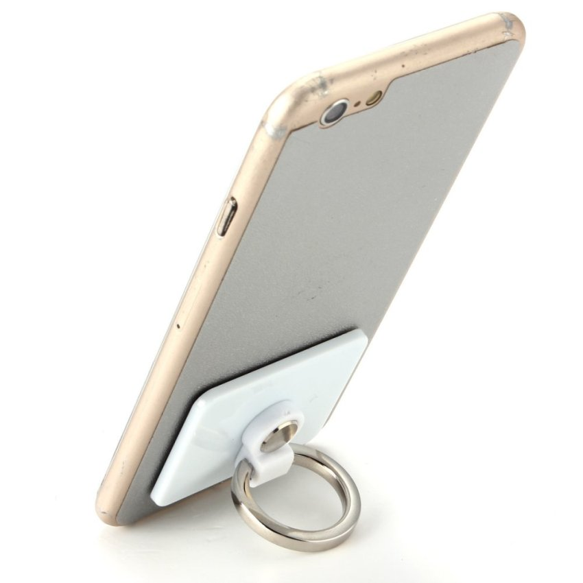 360 Degree Finger Grip Rotation 3D Ring Stand Mount Holder for Mobile Phone PDA White (Intl)