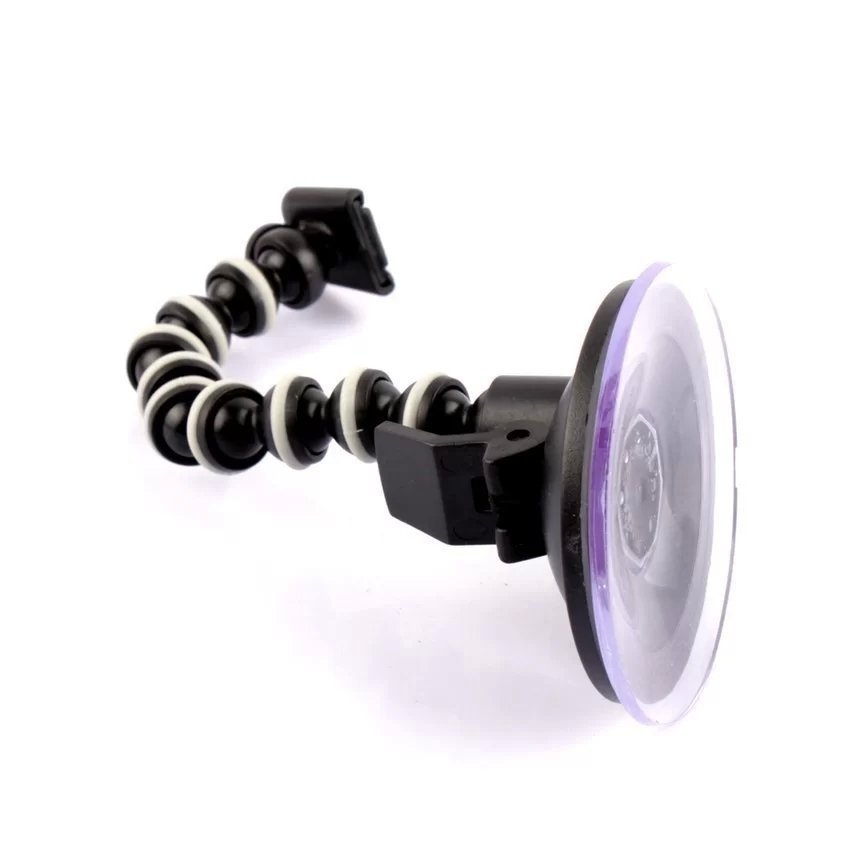 360 Degree Rotary Monopod for outerdoor Octopus Suction Cup Mount for Camera / GPS / DV (Black) (Intl)