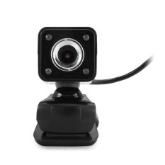 360 Degree Rotatable HD Webcam Clip-on Web PC Camera With MIC / Night Version For Home Office (Black)