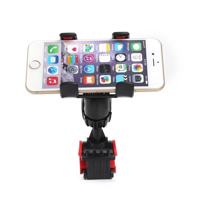 360 Degree Rotatable Rotation Bike Bicycle Stand Phone Holder Mount Dual Clip Handlebar Bracket Clip Stand Mount For iPhone 6 6Plus Samsung (Intl)