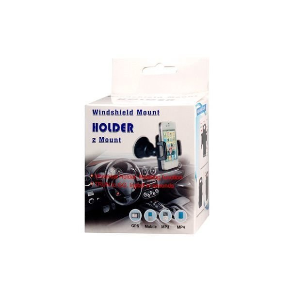 360 Degree Rotatable Windshield Mount Holder with Suction Pad (Black)