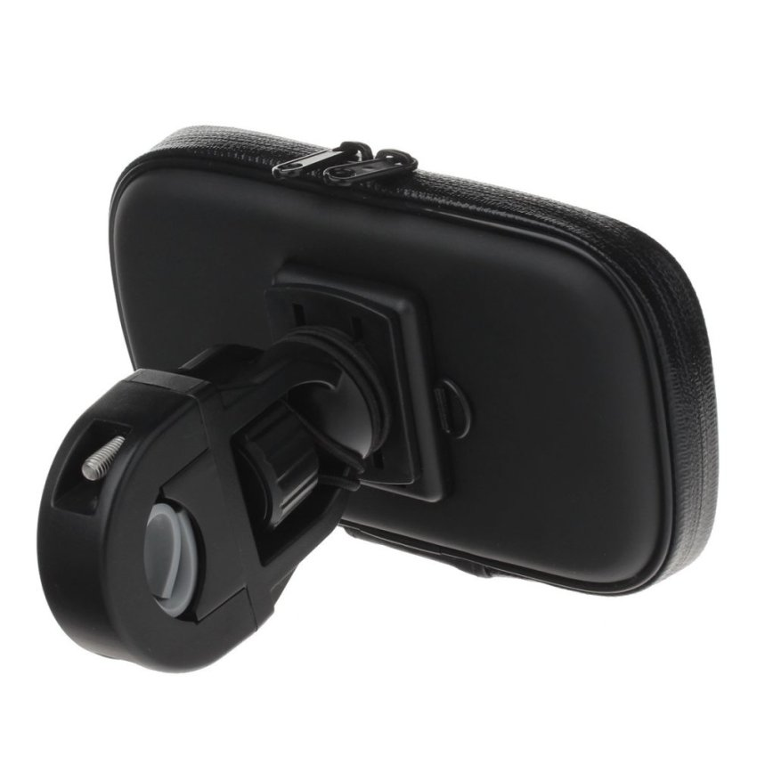 360 Degree Rotation Bracket w/ Waterproof PU Leather Bag for Samsung Galaxy S3 i9300 (Black) (Intl)