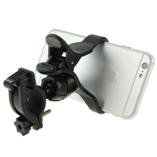360 Degree Rotation Universal Mobile Phone Bicycle Clip Holder Cradle Stand, Clip Support Phone Width: up to 10cm(Black)