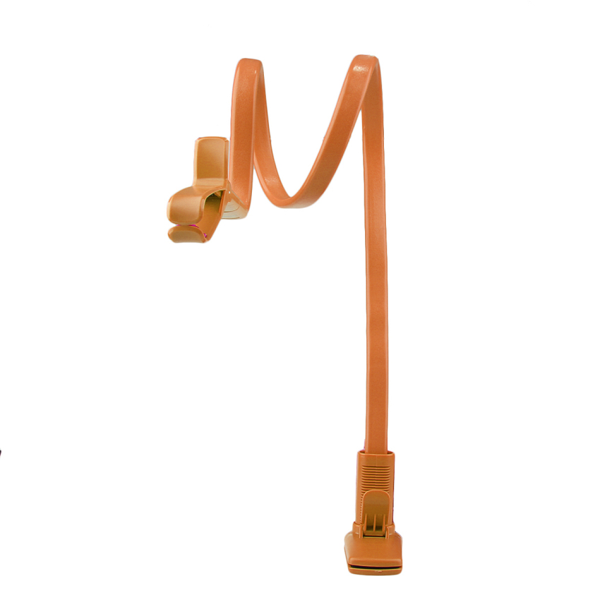 360° Lazy Phone Clip Long Flexible Holder Stand Bracket for iPhone6/6 Orange (Intl)