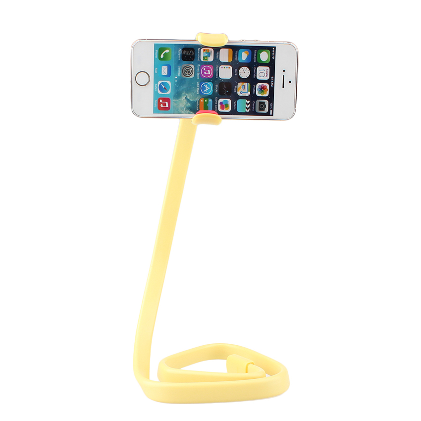 360° Lazy Phone Clip Long Flexible Holder Stand Bracket (Yellow) (Intl)