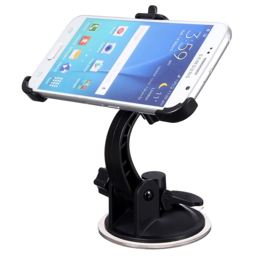 360° Rotating Auto Car Windshield Mount Holder Stand For Samsung Galaxy S6 Edge (Intl)