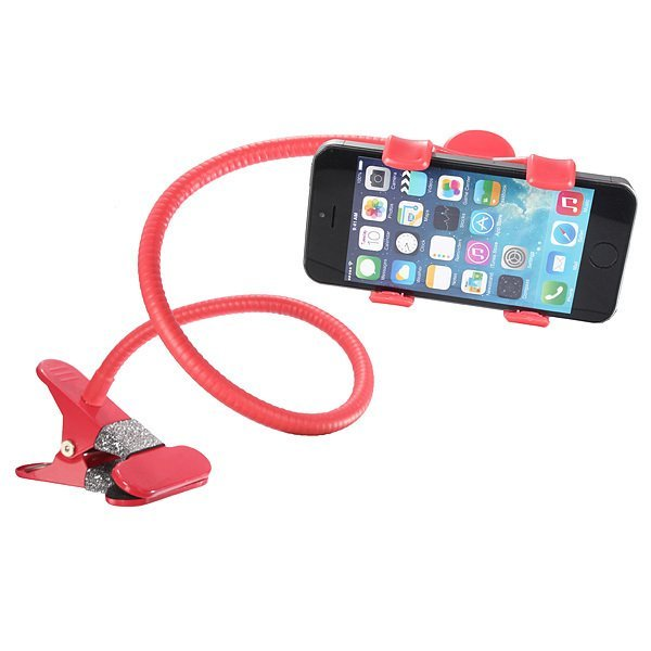 360°Universal Lazy Bed Desktop Car Stand Mount Holder for Cell Phone iPhone GPS Red (Intl)