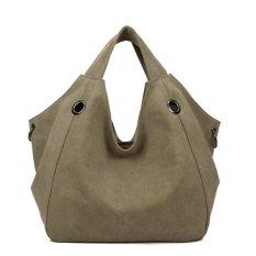 360DSC Fashion Special Design Large Capacity Canvas Women Tote Handbags Hobo Bag (Khaki) - INTL