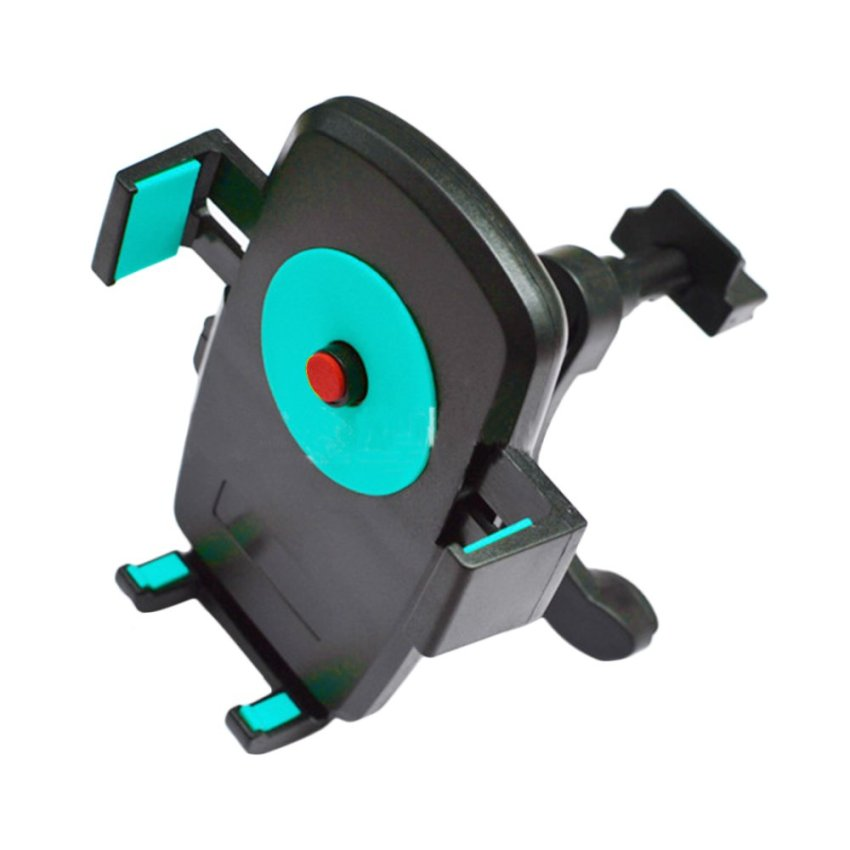 360DSC Portable 360 Degree Rotation Universal Car Mount Vehicle AC Air Vent Cell Phone Holder Stand - Black + Blue