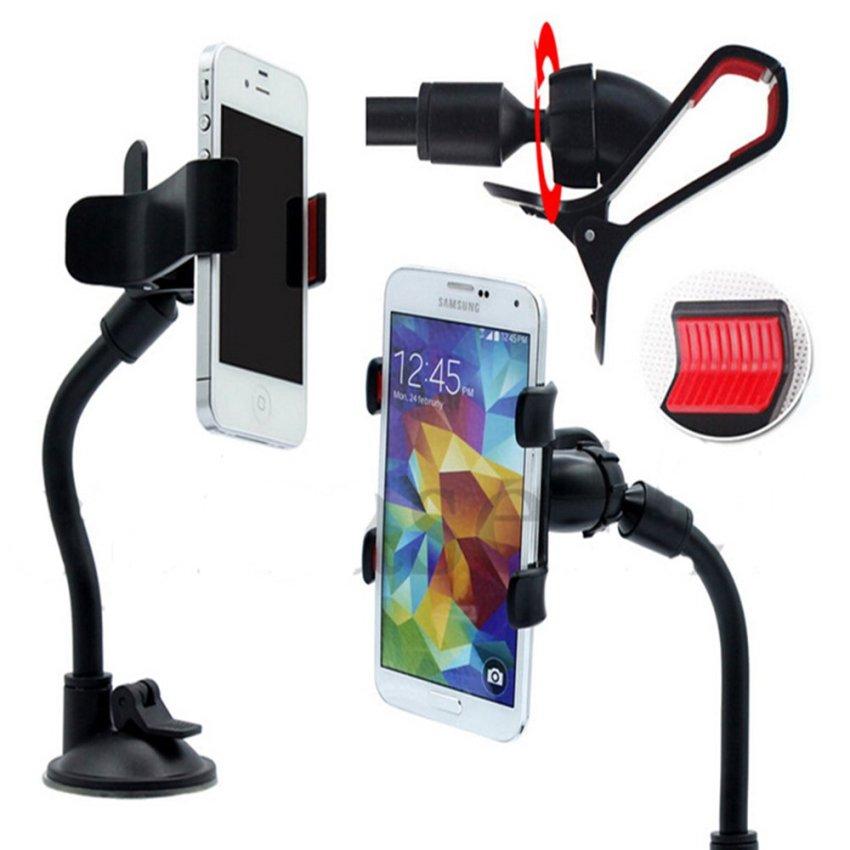 360ᄚRotating Car Windshield Cell Phone Mount Holder (Black)(INTL)