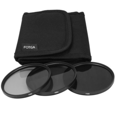 3in1 72mm Neutral Density ND2 ND4 ND8 Grey ND 2 4 8 Filter KIT With Case (Black) - Intl