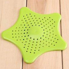 3pc Strainer Mesh Filter Starfish Bath Hair Catcher Sink New Kitchen Tool (Green) (Intl)