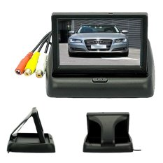 4.3 Inch Foldable TFT Color LCD Car Reverse Rearview Security Monitor For Camera DVD VCR