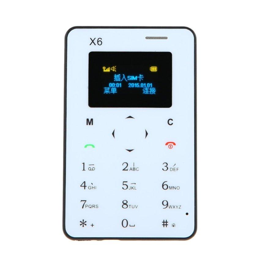 4.8mm Ultra Thin Children Student Card Phone Pocket Mini Phone (Black) (Intl)