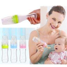 120ml Baby Toddler Leak-proof Food Dispensing Spoon Juice Cereal Feeding Bottle Storage Food Supplement