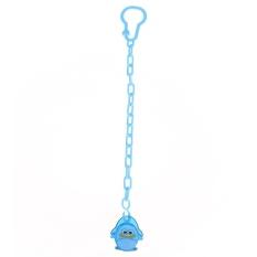 1pcs Cartoon Baby Chain Clip Holders Pacifier Nipple Strap(Light blue)-penguin - intl