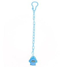 1pcs Cartoon Baby Kids Chain Clip Holders Pacifier Nipple Strap(Blue)-Penguin - intl