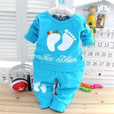 2 buah bayi baru lahir anak bayi baju hangat anak perempuan kaos atasan + celana pakaian
