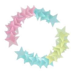 200 PCS Glow In The Dark Bedroom 3D Stars Wall Stickers Decals for Making Starry Sky Indoors Gift for Kids Friends Multi Color - intl