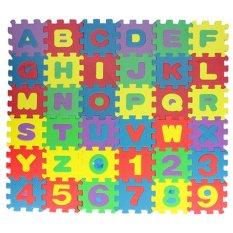 36pcs Soft EVA Foam Baby Children Kids Play Mat Alphabet Number Puzzle Jigsaw - intl