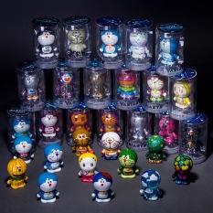 3pcs Anime Doraemon PVC Plastic Doraemon Action Figure Collection Doll Model Figurine Toys Children Gifts