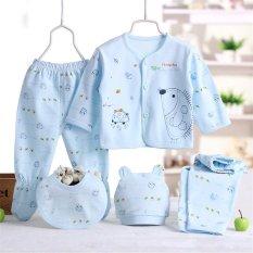 5 buah/set pakaian bayi baru lahir bayi lucu kartun Clothig-biru