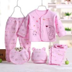 5 buah/set pakaian bayi baru lahir bayi lucu kartun Clothig Pink