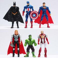 6 Buah Penebus Itu Tokoh Pahlawan Super Boneka Mainan Bayi Hulk Kapten Amerika Superman Batman Thor Iron Man