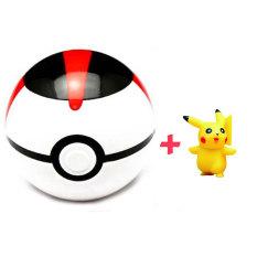 7 cm Pokemon bola + angka acak mainan Pikachu PokeBall untuk anak anak