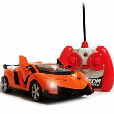AHS RC Mobil Lamborghini Veneno Skala 1/24 Pintu Buka Tutup dengan Remote - Orange(Orange)